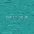 Doodle astratto Wave disegni vettoriali senza cuciture