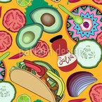 Taco Dienstag Nahtloses Vektormuster