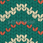 Waved Knit Sweater Seamless Vector Pattern Design