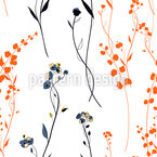 Meadow During Sunset Seamless Vector Pattern Design