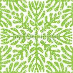 Symmetrisch Wachsende Blätter Nahtloses Vektormuster