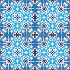 Gekachelte Mediterrane Schönheit Nahtloses Vektormuster