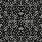 Florale Stern Geometrie Nahtloses Vektormuster