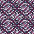 Georgian Embroidery Seamless Vector Pattern Design