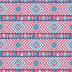 Pixelierte Stickerei Nahtloses Vektormuster