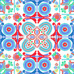 Hungarian Embroidery Beauty Seamless Vector Pattern Design