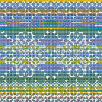 Winterblumen-Jacquard Nahtloses Vektormuster