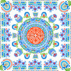 Hungarian Embroidery Dream Seamless Vector Pattern Design