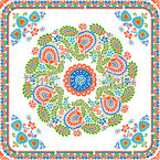 Hungarian Embroidery Impression Seamless Vector Pattern Design