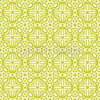 Symmetrische Blumen Quadrate Nahtloses Vektormuster