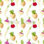 Root Vegetable Doodle Seamless Vector Pattern Design