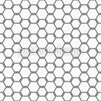 Hexagonal Bee Grid Seamless Vector Pattern Design
