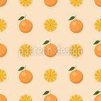 Orangen Schönheit Nahtloses Vektormuster