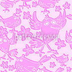 Songbird Sing Pink Repeat Pattern