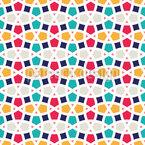 Verworrene Gittersymmetrie Nahtloses Vektormuster