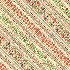 Diagonale Ungarische Stickerei Nahtloses Vektormuster
