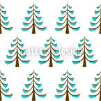 Frosty Wood Seamless Vector Pattern Design