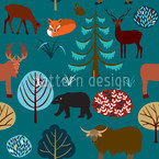 Into The Forest Seamless Vector Pattern Design
