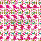 Pink Birdies Seamless Vector Pattern Design