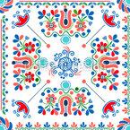 Ungarische Stickerei Tage Nahtloses Vektormuster