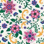 Fantasie Blumen Kunst Nahtloses Vektormuster