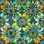 Floral Mandala Explosion Seamless Vector Pattern Design