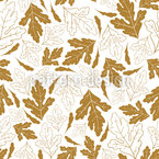 Autumnal Leaf Discovery Seamless Vector Pattern Design