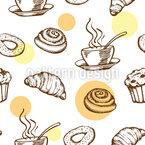 Kaffeepausen-Traum Nahtloses Vektormuster