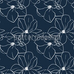 Minimalistic Magnolia Seamless Vector Pattern Design