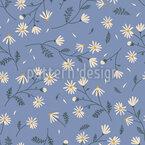 Blooming Flower Meadow Seamless Vector Pattern Design