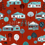 Bullerbü Seamless Vector Pattern Design