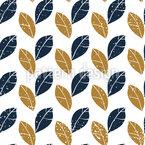 Vintage Leaves Seamless Vector Pattern Design