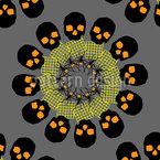 Gruseliges Mandala Nahtloses Vektormuster