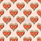 Festive Hearts Seamless Vector Pattern Design