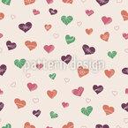 Dancing Hearts Seamless Vector Pattern Design
