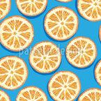 Orangenscheiben Nahtloses Vektormuster