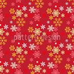 Festive Bright Snowflakes Seamless Vector Pattern Design