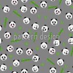 Pandas Und Pflanzen Nahtloses Vektormuster