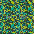 Polygonale Bewegung Nahtloses Vektormuster