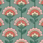 Retro Flower Composition Seamless Vector Pattern Design