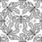 Rotating Butterflies Seamless Vector Pattern Design