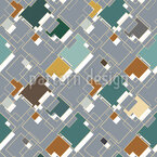 Overlapping Of Angular Shapes Seamless Vector Pattern Design
