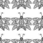 Butterflies In Rows Seamless Vector Pattern Design