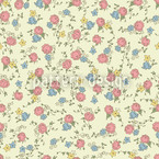Rose Red And Heavenly Blue Pattern Design