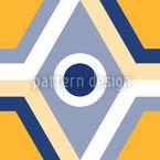 Geometro Gelb Estampado Vectorial Sin Costura