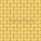 Bamboo Yellow Seamless Vector Pattern Design