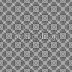 Bloom Grey Seamless Vector Pattern Design