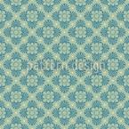 Floraison Vert Motif Vectoriel Sans Couture