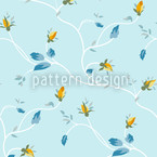 Rosebuds Seamless Vector Pattern Design