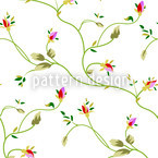 Rose Tendrils Day Repeating Pattern